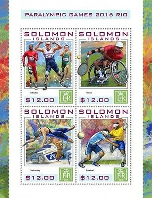 Z08 IMPERFORATED SLM16424a SOLOMON ISLANDS 2016 Paralympic Games MNH ** Postfris