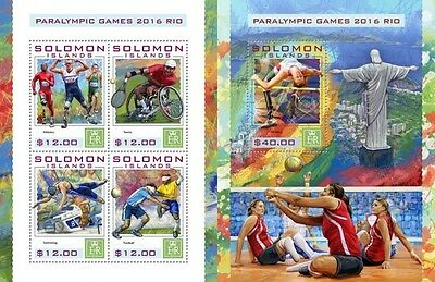 Z08 IMPERFORATED SLM16424ab SOLOMON ISLANDS 2016 Paralympic Games MNH ** Postfri
