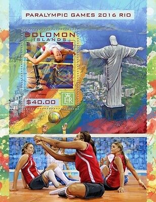 Z08 IMPERFORATED SLM16424b SOLOMON ISLANDS 2016 Paralympic Games MNH ** Postfris