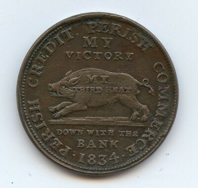 Hard Times Token HT9 1834 (#6360) AU. Old Scrs. Carefully Check out the Photos.