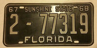 1967 1968 Florida Licence Plate Duval County 2- Nice Plate Jacksonville