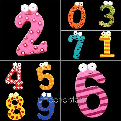 Fridge Magnet Kids Children Learning Teaching Magnetic Wooden Numbers Toy New