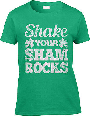 e7a5acf1d Shake Your Shamrocks St Patricks Day Funny Flirty Dance Party Womens Tee