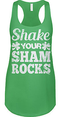 6a870bd19 Shake Your Shamrocks St Patricks Day Funny Flirty Dance Party Womens Tank