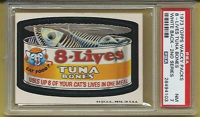 Wacky Packages 8 Lives Tuna Bones Psa 7 Nm Only 3 Higher