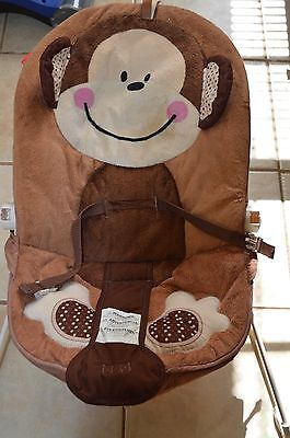 *FISHER PRICE Deluxe Monkey Baby Bouncer/Vibration Rocker UNIT- W9458*