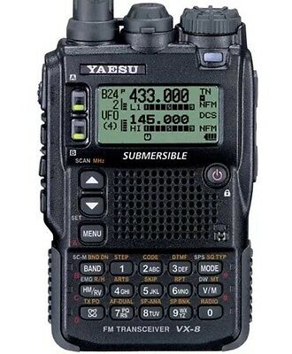Yaesu Vx-8Dr Handheld Ham Radio Quad-Band Submersible 6M/2M/222/440