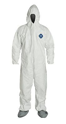 DuPont Tyvek TY122S Disposable Coverall with Hood and Boots, Elastic Cuff, 25/CS