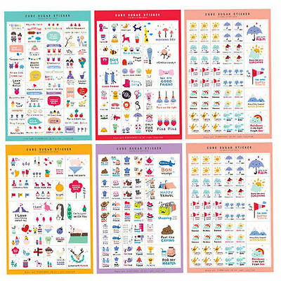5 Sheets Qute Annhouse Happy Days Diary Stickers Notebook Planner Sticker
