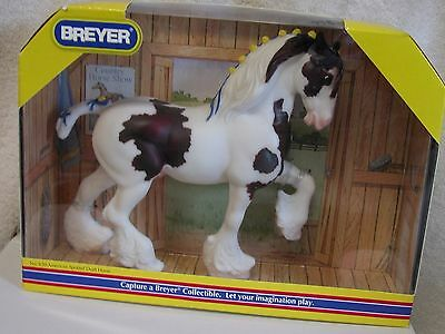 Breyer Classic #620 American Spotted Draft Horse, bay pinto Shire. New in box