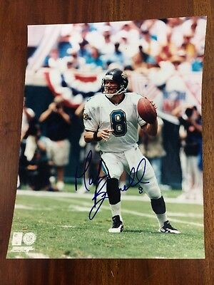 Mark Brunell Autographed 8x10 Game Action Glossy Photo, Jacksonville Jaguars