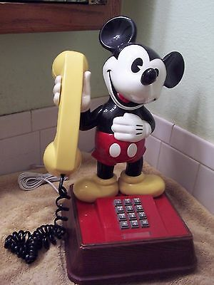 Vintage 1987 The Mickey Mouse Phone Push Button American Telecom #TEIF 8000 NICE