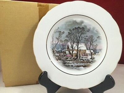 Avon Currier and Ives Cookie plate Representative Award 1977