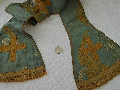 Antique early 1800's Priest Stole Sash Scarf Silk Fabric