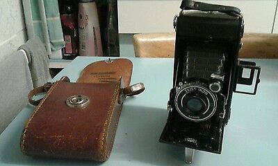 Zeiss Ikon Nettar  Film Camera Folding,with Case And Filter
