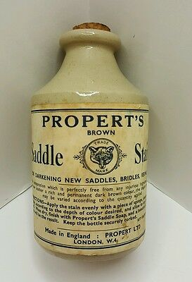 PROPERT'S SADDLE STAIN Full England Stoneware Equestrian Stable Lodge LAST ONE