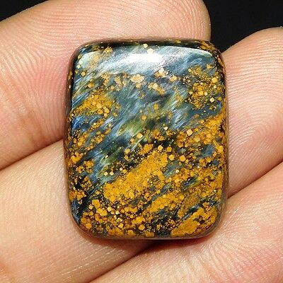 29.5Cts 100% NATURAL LOVELY PIETERSITE CUSHION 26X21 CAB GEMSTONE PL010