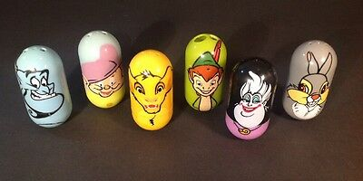 Mighty Beanz Lot Of 6   Genie Dopey Simba Peter Pan Ursula Thumper