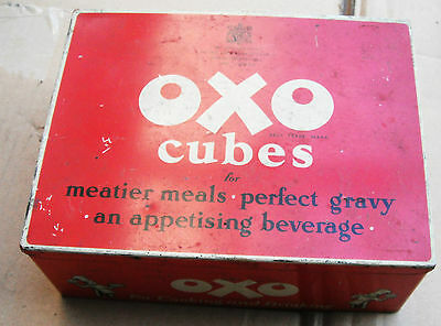 Lovely Oxo Tin 6.5 X 5 Inch In Very Good Condition