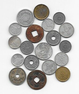Lot Alte münzen  JAPAN  / Lot  OLD  Coins
