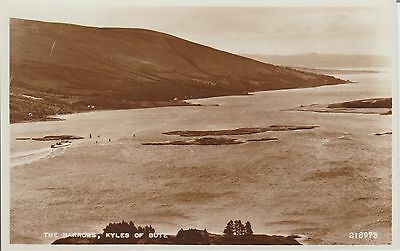 Early Postcard -Kyles Of Bute - The Narrows -Real Photo
