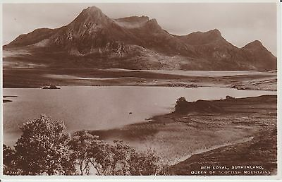 Early Postcard - Ben Loyal - Queen Of Scottish Mountains Perthshire  -Real Photo