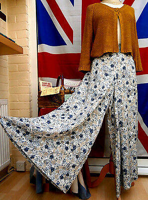 1940`s WW11 wartime vintage land girl style wide leg trousers size 12