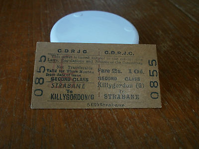 County Donegal Railways Joint Committee Ticket-Killygordon to Strabane