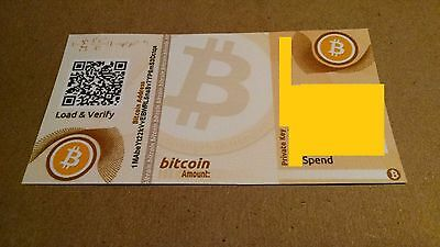 Bitcoin Paper Wallet Loaded With .02 Bitcoins