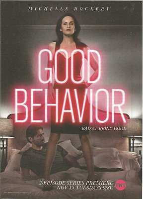 2016 PRINT AD for TNT tv Good Behavior Michelle Dockery ADVERTISING PAGE