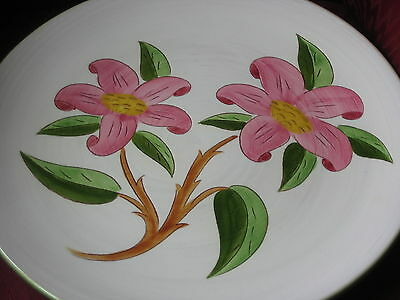Stangl Pottery Prelude Pattern - Huge Platter-Charger, Pink White Excellent!