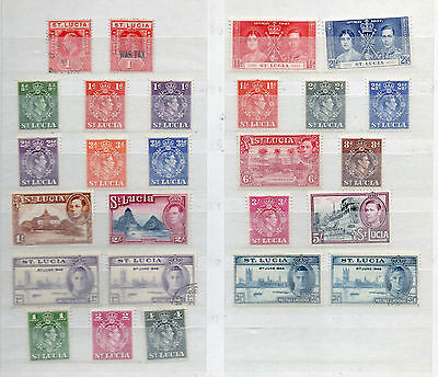 ST LUCIA KEVII to KGVI 26 DIFFERENT MH / USED STAMPS