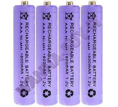 4 x 1.2v 1800 mAh AAA RECHARGEABLE BATTERIES FOR BT CORDLESS  TELEPHONES & MORE