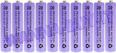 10 AAA 1800mAh Rechargeable Batteries for BT Freestyle, Aqua & Synergy phones ++