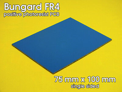 Bungard 75mm x 100mm Positive Photoresist PCB single sided (FR475X100/3500)