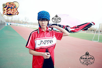U17 New Prince of Tennis Cosplay outfit-4 piece set + blue Kaoru Kaido headpiece