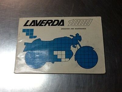 Laverda 1000 Triple Operation and Maintenance Owners Manual