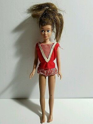 Vintage Brunette Skipper Doll 1963 - Needs TLC