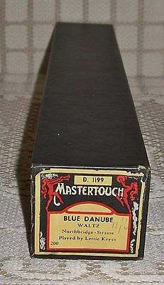 'BLUE DANUBE' MASTERTOUCH PIANOLA WORD ROLL Waltz (D. 1199)
