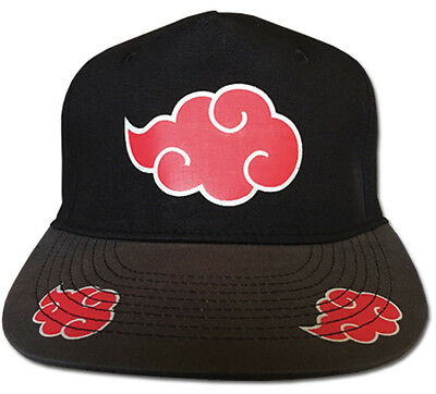 **License** Naruto Shippuden Akatsuki Cloud Symbol Fitted Headwear Cap Hat#31615