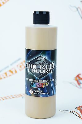 Createx Wicked Colors W350 Gold 16oz. water-based universal airbrush paint