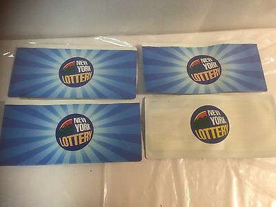 Lot of 4 New York State Lottery Play Slip/Ticket Holders - New!