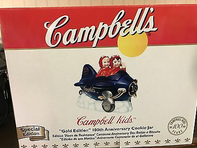 Campbell Kids GOLD EDITION 100th anniversary Cookie Jar
