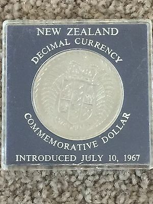 New Zealand 1967 Commemorative $1 Coin