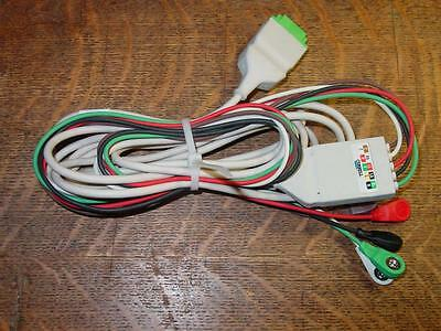 GE Marquette One-Piece  ECG cable with 5 lead Snap, 11pins  ships from USA!!