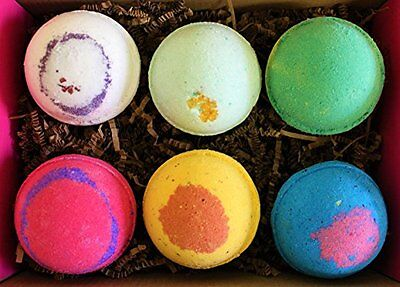 Bath Bomb Fizzy Gift Set Lot 6 Large 5 oz Assorted Scent and Colors fizzies