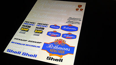 Rothmans  Rc decals stickers 1/10,1/8 glossy vinyl high resolution a4 size