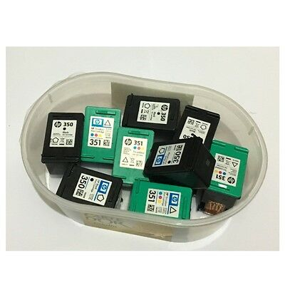HP 350 and 351 Black and Tri-Colour Virgin Empty Ink Cartridges x 9