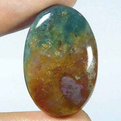 33.7Cts 100% NATURAL RARE BLOOD STONE OVAL 33X23 LOOSE CAB GEMSTONE PJ298
