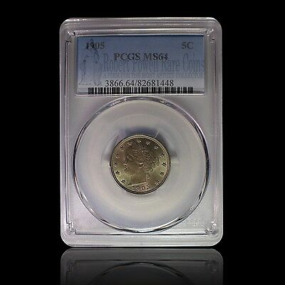 1905 5C Liberty Nickel PCGS MS 64
